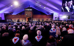 70th årsdag av den Auschwitz befrielsen Arkivbild