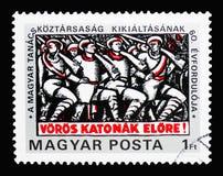 60th årsdag av den ungerska sovjetiska republiken, grunda av set Royaltyfri Bild