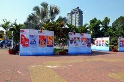 40th årsdag av grunda av Socialistiskaet republiken Vietnam Arkivfoto