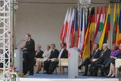 20th årsdag av kollapsen av kommunism i Centraleuropa royaltyfria foton