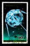 30th årsdag av sputnik I, transportserie, circa 1987 Arkivbild
