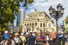 25th årsdag av tysk enhet i Frankfurt Royaltyfri Fotografi