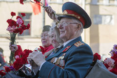 70th årsdag av Victory Day i Ryssland Royaltyfria Foton
