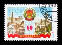 60th årsdag av Yakut ASSR, serie, circa 1982 Royaltyfri Fotografi