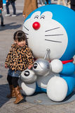 80th årsdag Doraemon Royaltyfri Foto