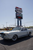 50th årsdag Ford Mustang Event på Charlotte Motor Speedway Royaltyfria Bilder