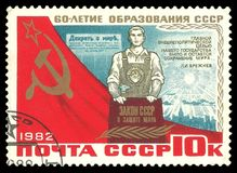 60th årsdagbildande av USSR Royaltyfria Bilder