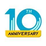 10th årsdagsymbol Royaltyfri Fotografi