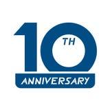 10th årsdagsymbol Fotografering för Bildbyråer