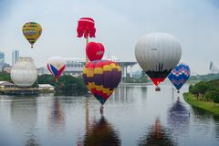 10th годовщина воздушного шара Malaysia's горячего стоковое фото rf