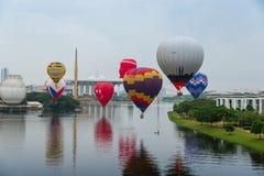 10th годовщина воздушного шара Malaysia's горячего стоковая фотография