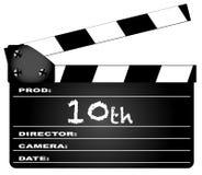 10th год Clapperboard Стоковые Фотографии RF