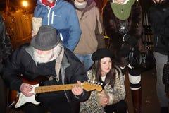 34th годовщина смерти Джон Леннон на полях 50 клубники Стоковые Фото