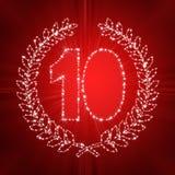 10th годовщина иллюстрация вектора