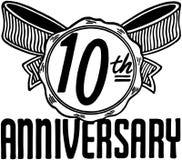 10th годовщина Стоковая Фотография