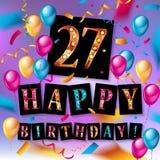 27th дизайн торжества годовщины Стоковые Изображения