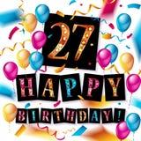 27th дизайн торжества годовщины Стоковые Фотографии RF