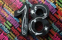 18th день рождения счастливый Стоковые Фотографии RF