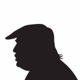 45th значок силуэта портрета Дональд Трамп президента Соединенных Штатовов иллюстрация вектора