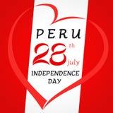 28th из Перу -го Дня независимости в июле иллюстрация вектора