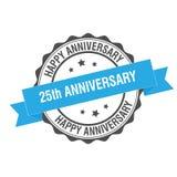 25th иллюстрация штемпеля годовщины Стоковые Изображения