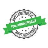10th иллюстрация штемпеля годовщины Стоковые Изображения RF