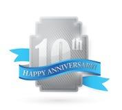 10th иллюстрация серебряного экрана годовщины года Стоковая Фотография RF