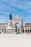 27th коммерции 2010 lisbon -го принятый квадрат Португалии фото в июне Стоковое Изображение