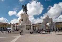 27th коммерции 2010 lisbon -го принятый квадрат Португалии фото в июне Стоковое фото RF