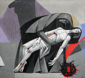 13th крестный путь, тело ` Иисуса извлечется от креста Стоковые Фотографии RF
