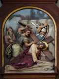 7th крест падает время станций jesus во-вторых стоковое изображение rf