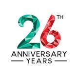 26th леты годовщины резюмируют col треугольника современный полный бесплатная иллюстрация