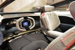 88th мотор-шоу 2018 Женевы международное - интерьер концепции зрения Aston Мартина Lagonda стоковое изображение