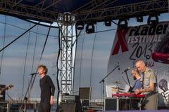 10th музыка фестиваля flounders. Стоковые Фотографии RF