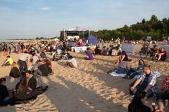 10th музыка фестиваля flounders. Стоковые Изображения RF