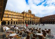 18th начало ayunamiento строя центральный город столетия датирует площадь salamanca мэра залы квадратным взглядом городка Стоковые Фотографии RF