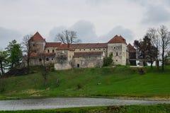 15th построенное svirzh Украина oblast lviv семьи столетия замока благородное первоначально было wirzski Стоковые Изображения