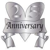 25th сердце годовщины Стоковая Фотография RF
