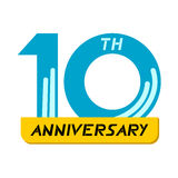 10th символ годовщины Стоковая Фотография RF