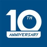 10th символ годовщины Стоковое Изображение RF