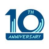 10th символ годовщины бесплатная иллюстрация