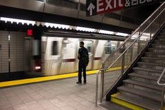 34th станция метро Нью-Йорк дворов Гудзона улицы Стоковое фото RF