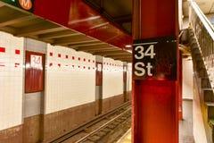 34th станция метро улицы - NYC Стоковое Изображение