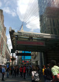 34th станция Пенна улицы, железная дорога Лонг-Айленд, MTA LIRR, Эмпайр Стейт Билдинг, NYC, США Стоковые Фото