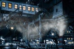 125th станция эпицентра деятельности регулярного пассажира пригородных поездов улицы, в Гарлеме, NYC Стоковое Изображение RF
