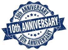 10th уплотнение годовщины штемпель Стоковые Изображения