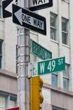 49th Улица в Нью-Йорке Стоковые Изображения
