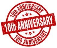 10th штемпель годовщины Иллюстрация штока