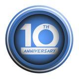 10th эмблема годовщины Стоковое фото RF