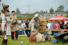 1150th 862 2012古老周年纪念诞生称首都投入的节日首先在这里ladoga老王子规则rurik ・俄国俄国国家地位对 图库摄影